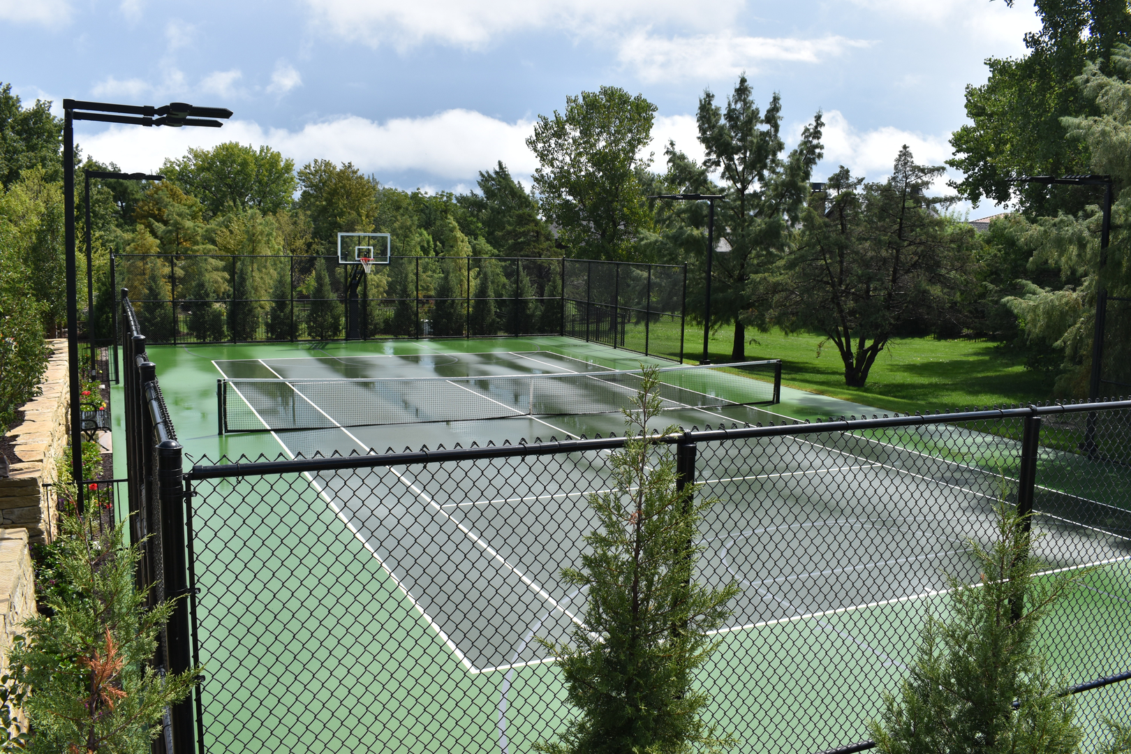tennis court construction KS