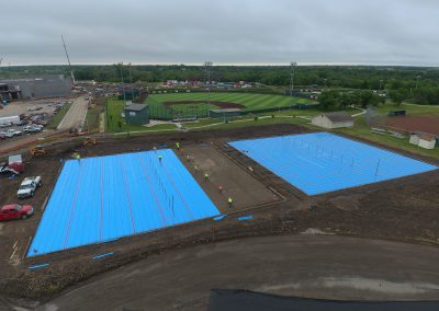 Andover High School Tennis Courts Construction